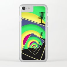 Spinning Disc Golf Baskets 5 Clear iPhone Case