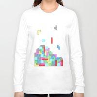tetris Long Sleeve T-shirts featuring Tetris by #dancingpenguin