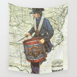 WAR DRUM Wall Tapestry