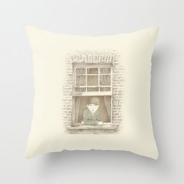 The Night Gardener - William Throw Pillow