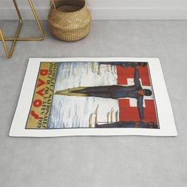 1922 SWITZERLAND Davos National Ski Races Poster Rug