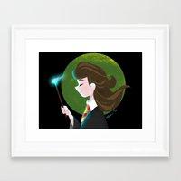 hermione Framed Art Prints featuring Hermione  by Maha Khatib