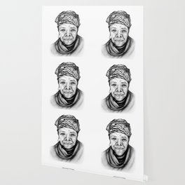 Maya Angelou - BW Original Sketch Wallpaper