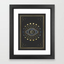 The Third Eye or The Sixth Chakra Framed Art Print
