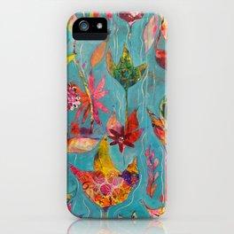 Garden In Aqua iPhone Case
