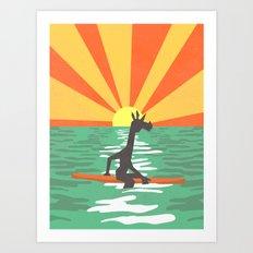 Surf Unicorn Art Print