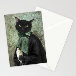 Case of the Missing Fish - Rococo Cat Stationery Cards