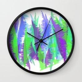 Purple and Green Abstract - original design by ArtStudio29 Wall Clock