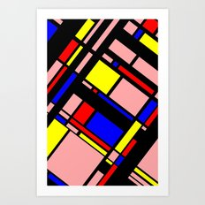 Grid Pattern 11 Art Print
