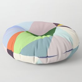 Abstract Geometric Art Colorful Design 6 Floor Pillow