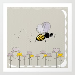 Bee Cute! Art Print