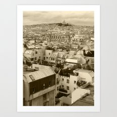 Rooftops of Paris 3 Art Print