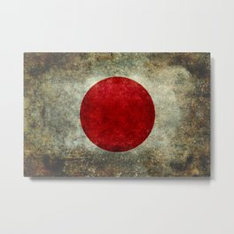 Japanese Flag in grungy retro style Metal Print