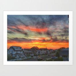 Brigantine Beach Sunset Art Print