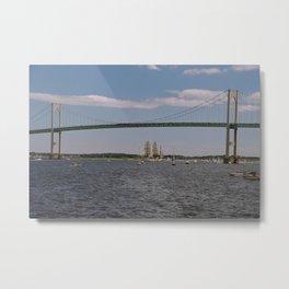Newport Bridge - Newport, Rhode Island Metal Print