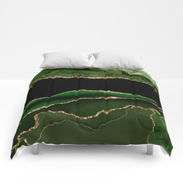 Emerald Marble Glamour Landscapes Comforters