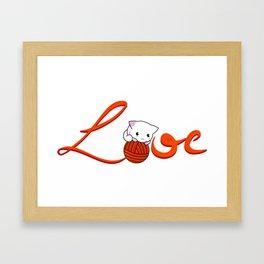 Love Cat Framed Art Print