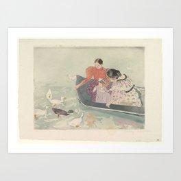 Mary Stevenson Cassatt (1844–1926), Feeding the Ducks Art Print