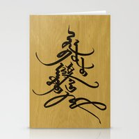 calligraphy Stationery Cards featuring Mongolian calligraphy by Endangered Alphabets