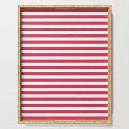 Red white striped Serving Tray