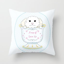 Cup of love Throw Pillow