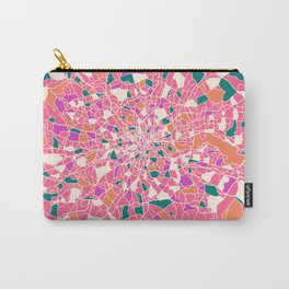London England Colorful Map Carry-All Pouch