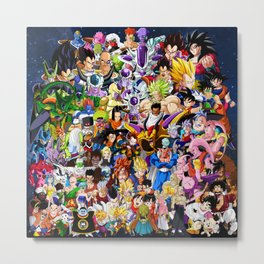 Dragon ball characters Metal Print