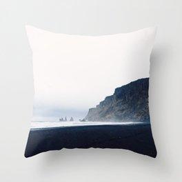 Vik Black Sand Beach, Iceland Throw Pillow