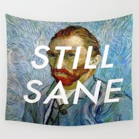lorde Wall Tapestries featuring van Gogh is Still Sane by Lorde Art History