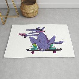 skater wolf Rug