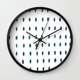 Paint Dabs in Teal Wall Clock