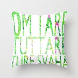 Tara's Mantra Throw Pillow