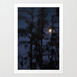 Moon over the Samp Art Print