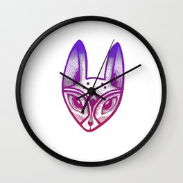 Foxy - Darker Tones Wall Clock