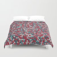 supreme Duvet Covers featuring Supreme Olive by John Proestakes