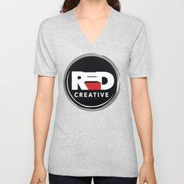 Red Stair Creative - circle logo Unisex V-Neck