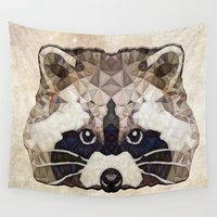 racoon Wall Tapestries featuring Racoon by Ancello