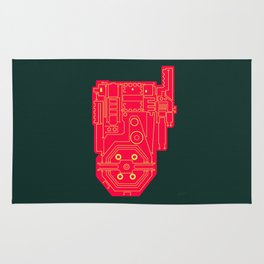 Circuit Drawing of a Proton Pack Rug