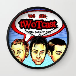 tWoTcast Wall Clock
