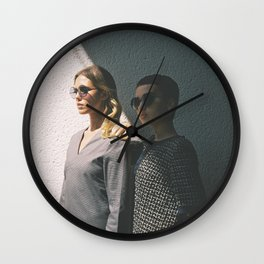 Women in Grey Wall Clock