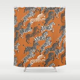 Zebra Race Shower Curtain