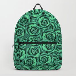 Green floral pattern Backpack