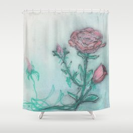 finch roses Shower Curtain