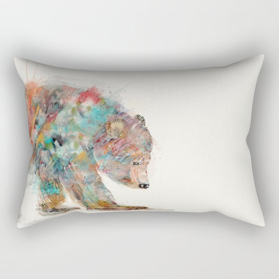 into the wild (the grizzly bear Rectangular Pillow
