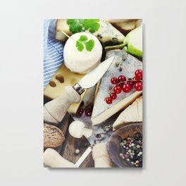 Various types of cheese composition Metal Print