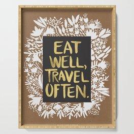 Eat Well, Travel Often (on Kraft) Serving Tray