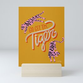 Go Get 'Em Tiger – Yellow Palette Mini Art Print