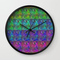 squirtle Wall Clocks featuring Squirtle Spectrum by pkarnold + The Cult Print Shop