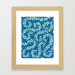 Lacy Leaves Framed Art Print