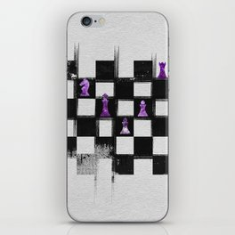 Chessboard and Amethyst  Chess Pieces composition iPhone Skin